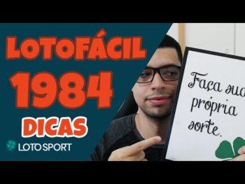 Lotofacil 1984 dicas e analises – Dicas de fechamentos