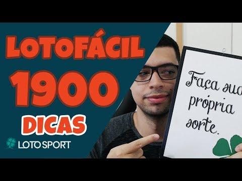 Lotofacil 1900: Dicas e Análises – Jogos Grátis –  LotoSport