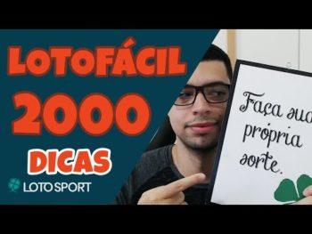 Lotofacil 2000 dicas e analises – Apuração sorteio 65k