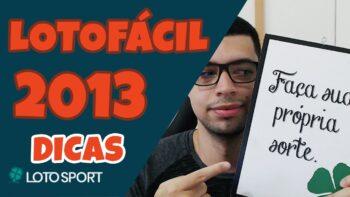 Lotofacil 2013 dicas e analises