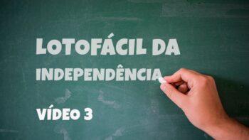 Dicas para Lotofacil da Independência – Vídeo 3 – Lotosport