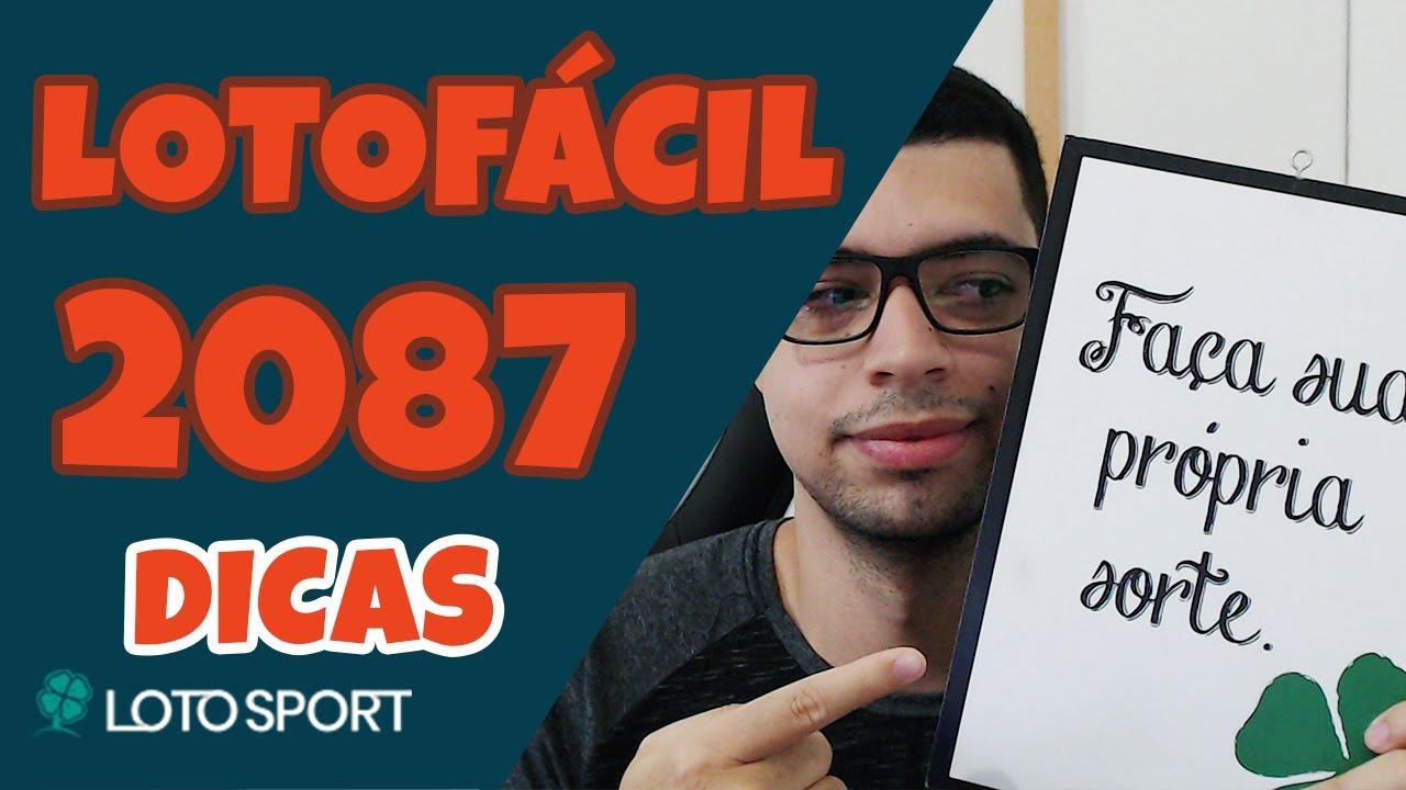 Lotofacil 2087 dicas e analises
