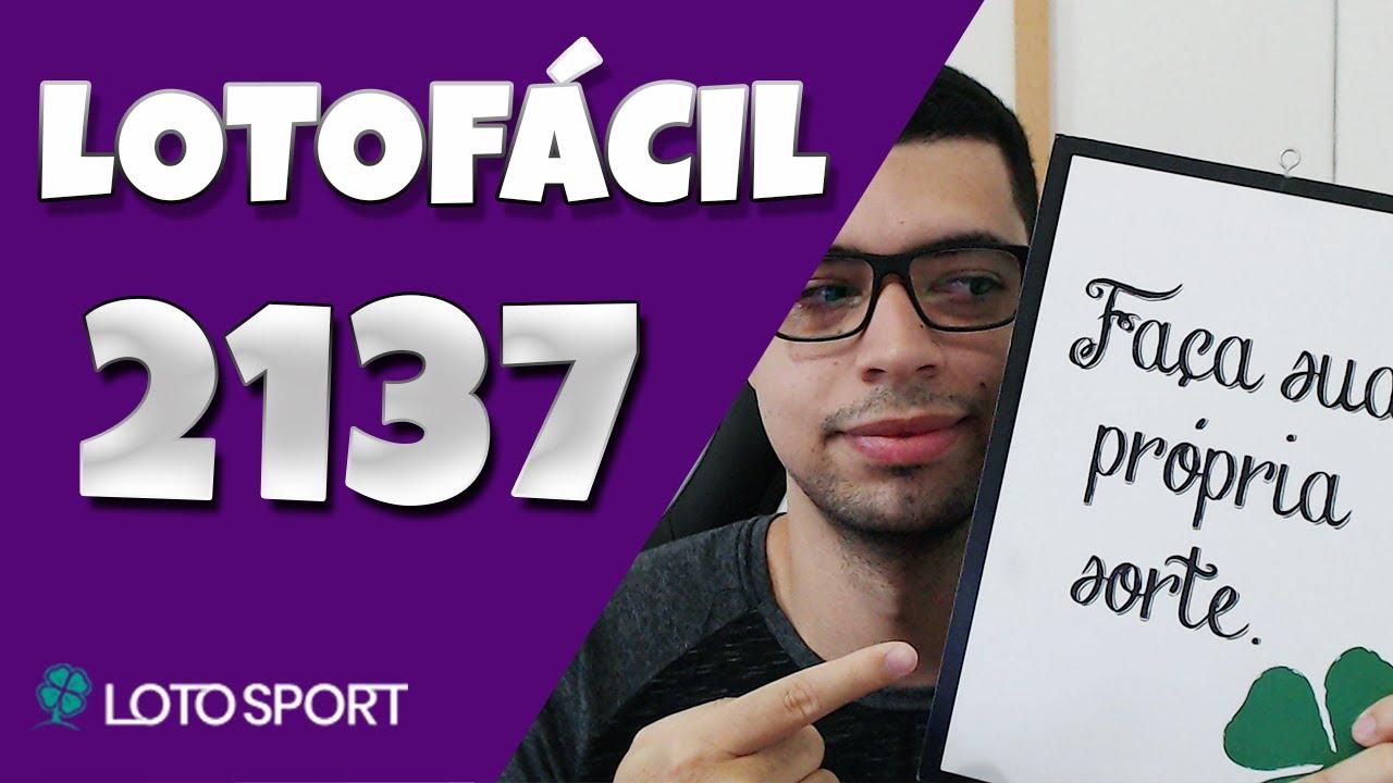 Lotofacil 2137 dicas e estudos
