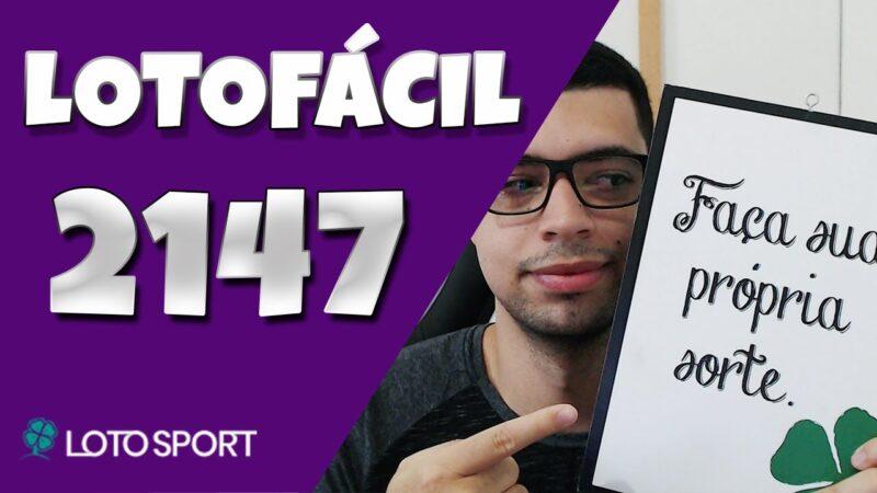 Lotofacil 2147 dicas e analises – Sorteio na segunda!