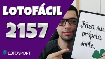 Lotofacil 2157 dicas e analises
