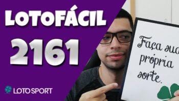Lotofacil 2161 dicas e analises
