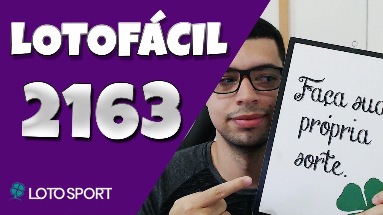 Lotofacil 2163 dicas e analises