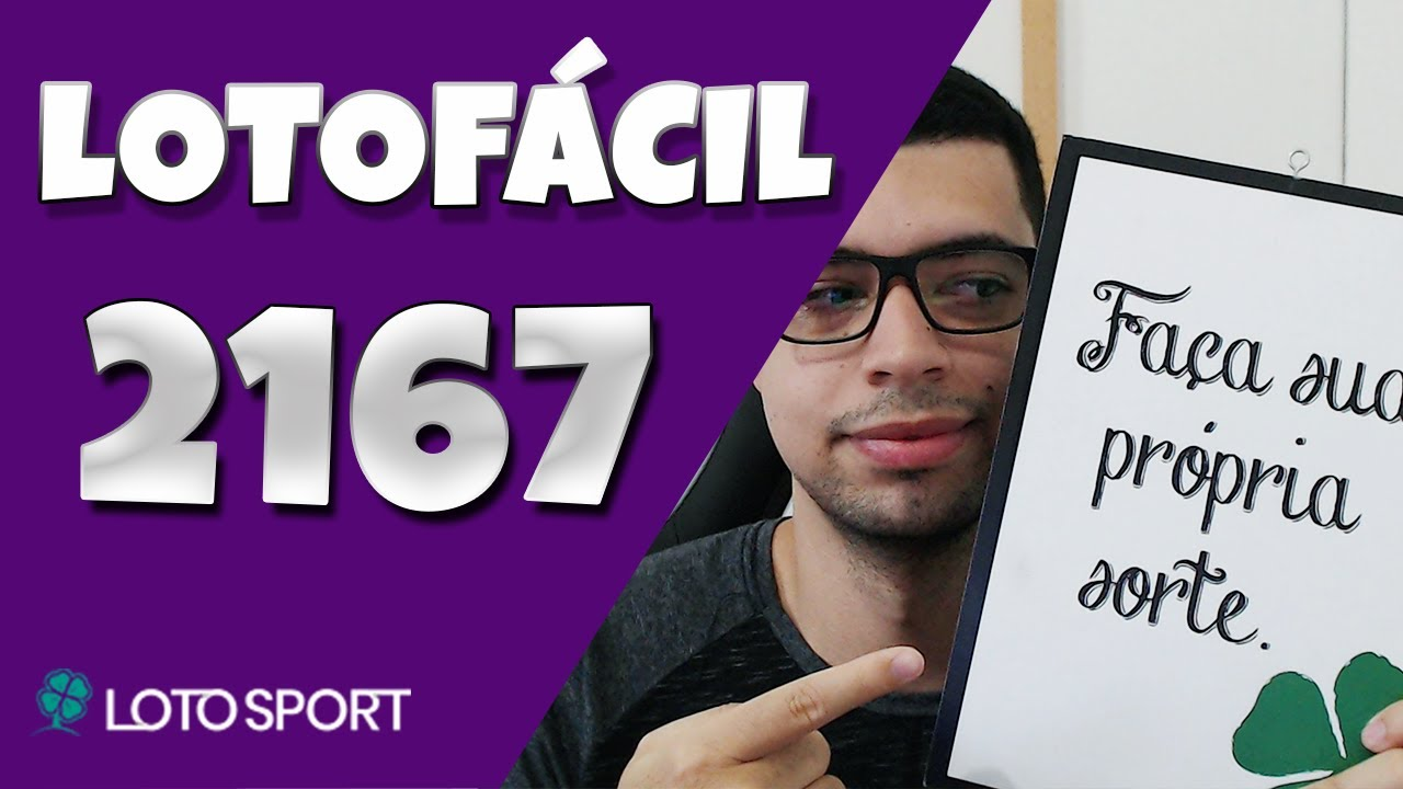 Lotofacil 2167 dicas e analises