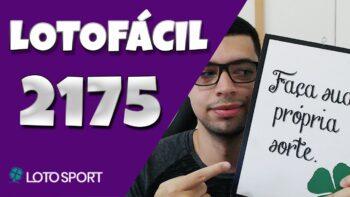 Lotofacil 2175 dicas e analises