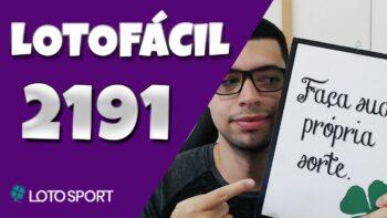 Lotofacil 2191 dicas e analises