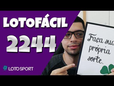 Lotofacil 2244 dicas e analises – FIZEMOS 14 PONTOS