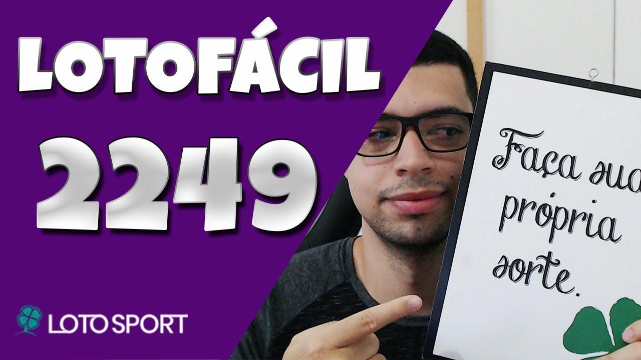 Lotofacil 2249 dicas e analises