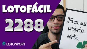 Lotofacil 2288 dicas e analises – BOLÕES DISPONÍVEIS!