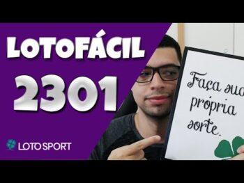Lotofacil 2301 dicas e analises – 6 Milhões!!!!