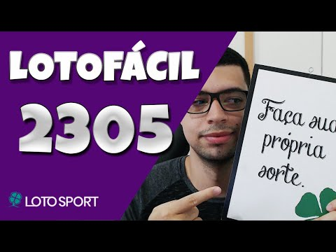Lotofacil 2305 dicas e analises