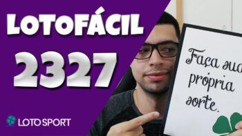 Lotofacil 2327 dicas e analises